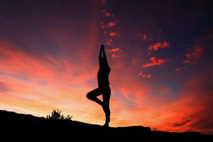 singing posture yoga