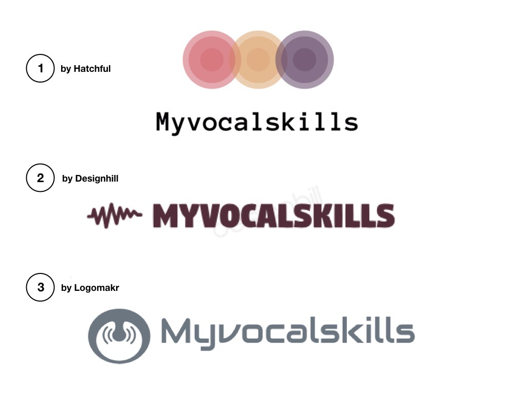 Myvocalskills logo selection